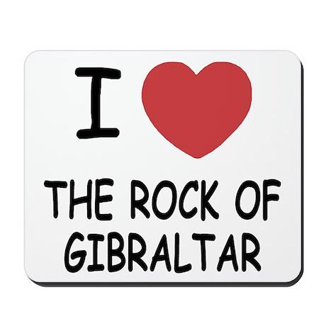 I heart rock of gibraltar Mousepad