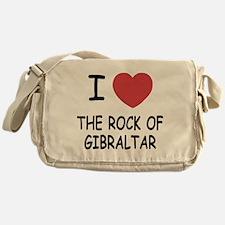 I heart rock of gibraltar Messenger Bag