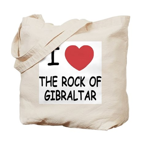 I heart rock of gibraltar Tote Bag