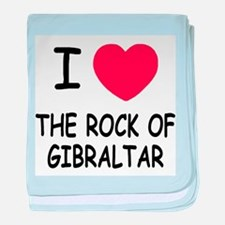 I heart rock of gibraltar baby blanket