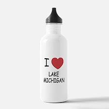 I heart lake michigan Water Bottle