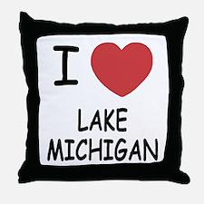 I heart lake michigan Throw Pillow
