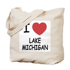I heart lake michigan Tote Bag