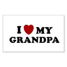 I LOVE GRANDPA SHIRT VALENTIN Decal