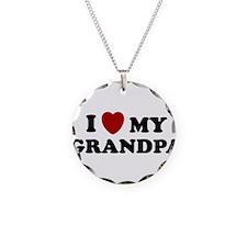 I LOVE GRANDPA SHIRT VALENTIN Necklace