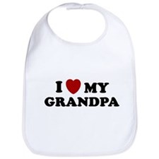 I LOVE GRANDPA SHIRT VALENTIN Bib