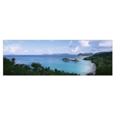 US Virgin Islands, St. John, Trunk Bay, Panoramic  Poster