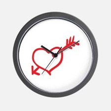 Heart Arrow Wall Clock