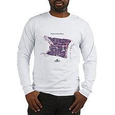 Philadelphia Men's LS Shirt Purple on Grey