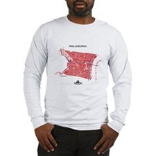 Philadelphia Men's LS Shirt Red on Grey