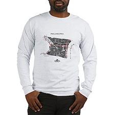 Philadelphia Men's LS Shirt Black on Grey