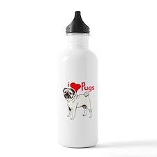 pug love Water Bottle
