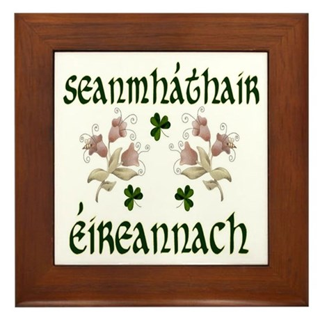 Irish Grandmother (Floral) Framed Tile