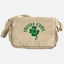 IRISH GIRL SHIRT ST. PATRICKS Messenger Bag