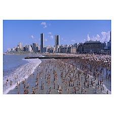 Tourists on the beach, Mar del Plata, Argentina