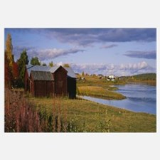 House at the waterfront, Lovikka, Torne River, Nor