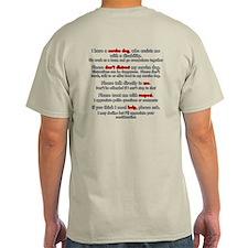 Service Dog Team Etiquette T-Shirt