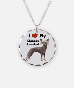 I Love My Chinese Crested Necklace