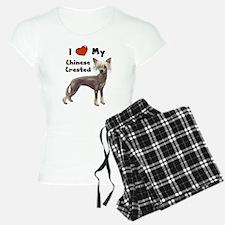 I Love My Chinese Crested Pajamas