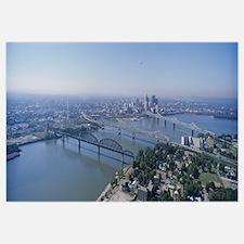 Aerial view of a city, Louisville, Kentucky