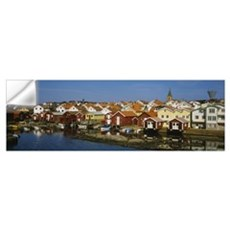 High Angle View Of A Town, Smogen, Bohuslan, Swede Wall Decal