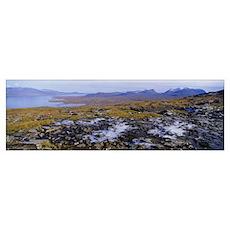 Lake on a landscape, Njulla, Lake Torne, Lapland,  Poster