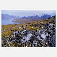 Lake on a landscape, Njulla, Lake Torne, Lapland,