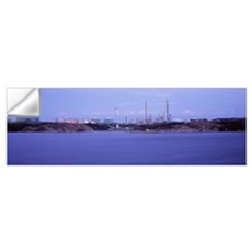 Oil refinery at the coast, Lysekil, Bohuslan, Swed Wall Decal