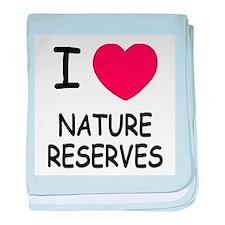 I heart nature reserves baby blanket