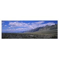 Clouds over a landscape, Delamar Mountains, Nevada Poster