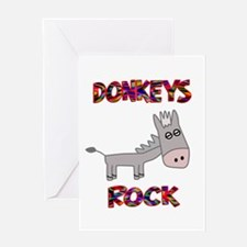 Donkeys Rock Greeting Card