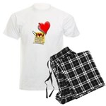 Valentine Heart and Love Not Men's Light Pajamas