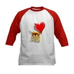 Valentine Heart and Love Not Kids Baseball Jersey