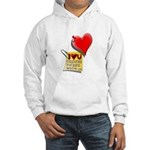 Valentine Heart and Love Not Hooded Sweatshirt