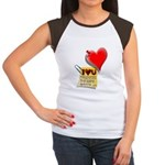 Valentine Heart and Love Not Women's Cap Sleeve T-