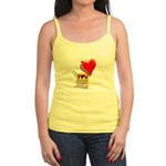 Valentine Heart and Love Not Jr. Spaghetti Tank