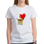 Valentine Heart and Love Not Women's T-Shirt