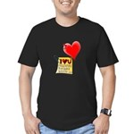 Valentine Heart and Love Not Men's Fitted T-Shirt
