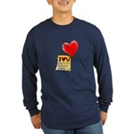 Valentine Heart and Love Not Long Sleeve Dark T-Sh