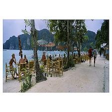 Restaurant on the beach, Ko Phi Phi Don, Phi Phi I