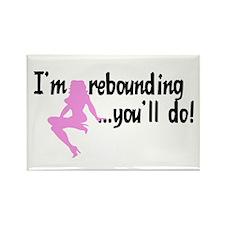 I'm rebounding... Rectangle Magnet