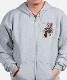 Fairy and Dragon Fantasy Art by Molly Harrison Zip Hoodie