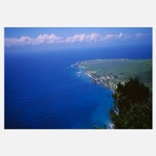 High angle view of a coastline, Pacific Ocean, Kal