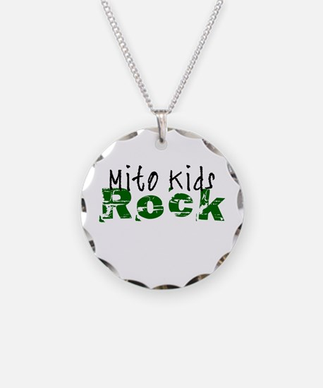Mito Kids Rock Necklace Circle Charm