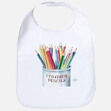 My Colored Pencils Bib