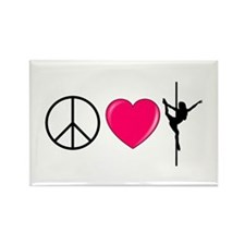 peacelovepole2 Magnets