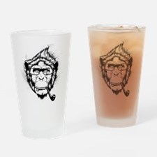 Ironic Chimp Drinking Glass