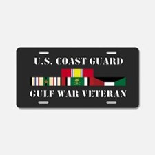 Coast Guard Gulf War Vet 1 Star Aluminum License P