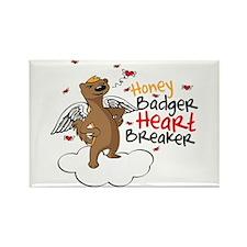 Honey Badger Valentine's Day Heart Breaker Rectang