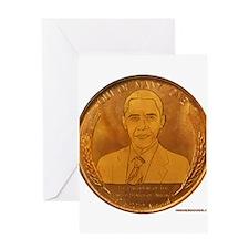 Obama 2012 Natural Greeting Card